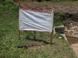 The Water Project:  Installed Charts Next To The Spring
