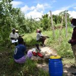 The Water Project: Ingavira Community, Laban Mwanzo Spring -  Social Distancing