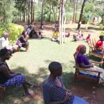 The Water Project: Chegulo Community, Yeni Spring -  The Sun Was Scorching Hot But They Kept An Open Ear