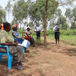 The Water Project: Shitoto Community, Abraham Spring -  Trainers Exemplfiy Social Distancing