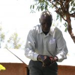 The Water Project: Shirugu Community, Shapaya Mavonga Spring -  Mr Shapaya Demonstrating Handwashing