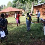 The Water Project: Irumbi Community, Shatsala Spring -  Covid Prevention Training