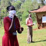 The Water Project: Irumbi Community, Shatsala Spring -  Discussion On The Importance Of Wearing Face Masks
