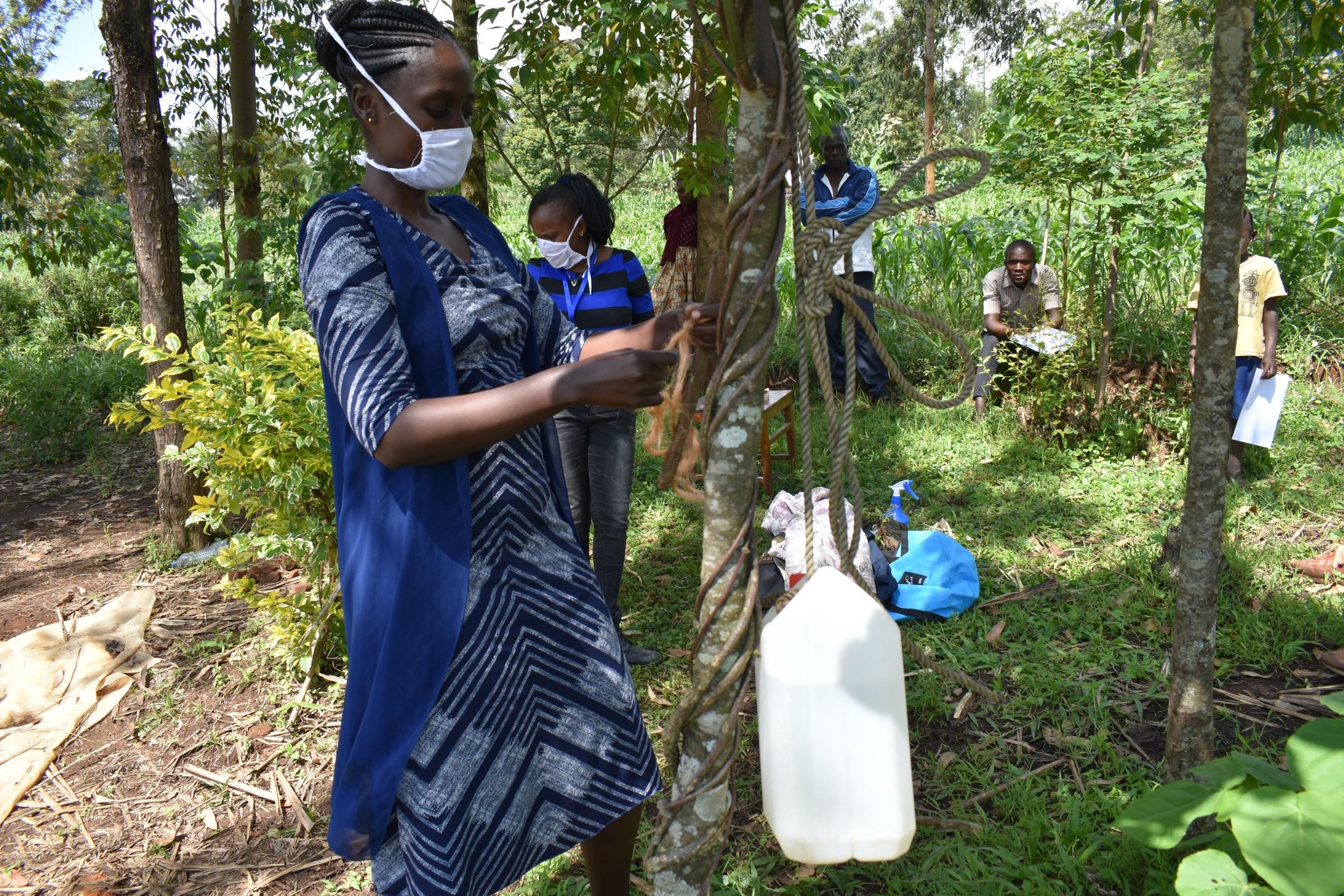 The Water Project : covid19-kenya19145-handwashing-station