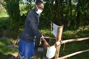 The Water Project:  Improvised Handwashing Point