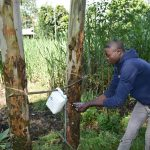 The Water Project: Bukhaywa Community, Ashikhanga Spring -  Using A Fabricated Handwashing Point