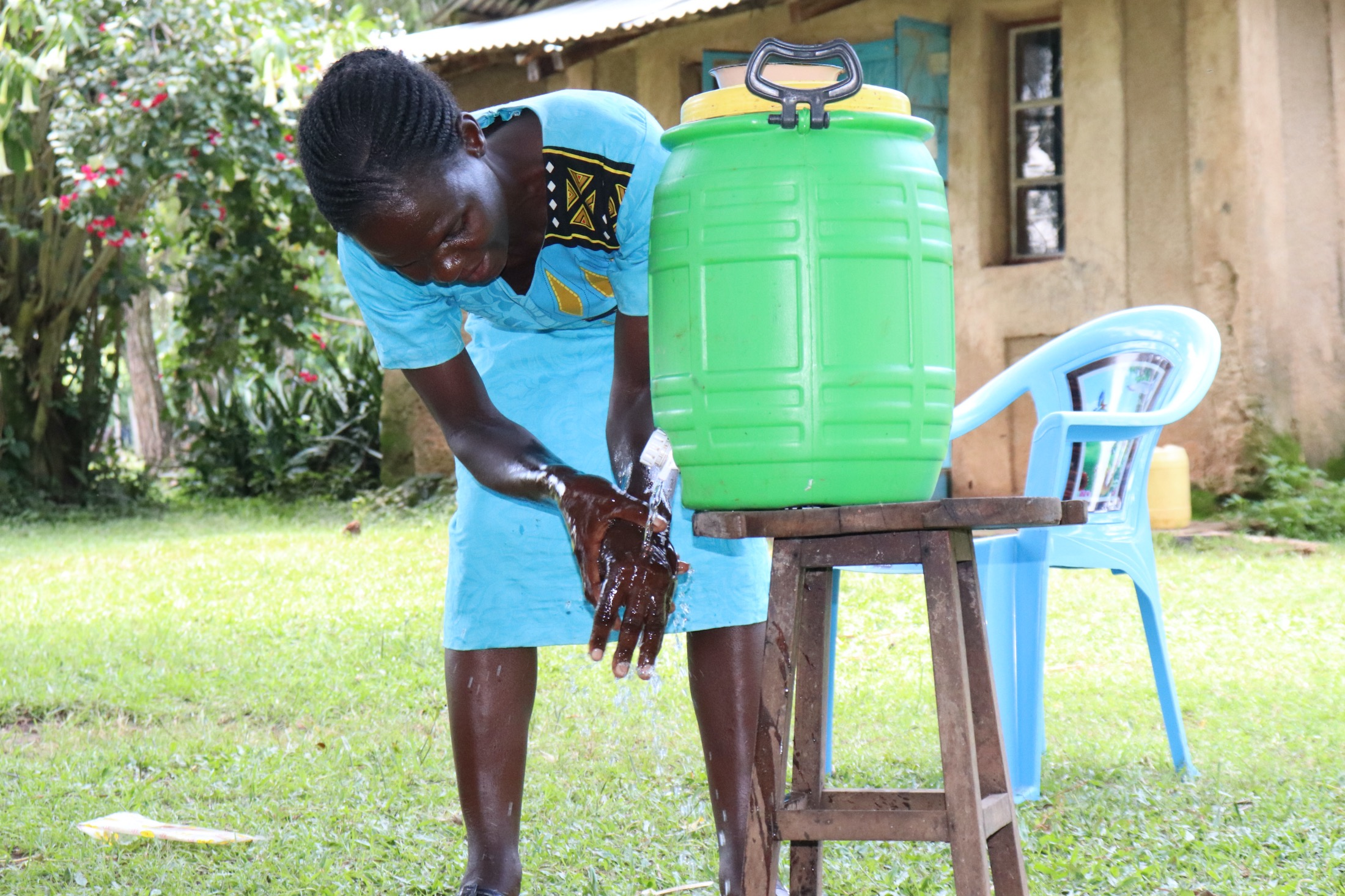 The Water Project : covid19-kenya4856-a-plastic-tank-handwashing-station