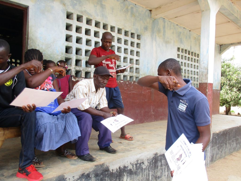 The Water Project : covid19-sierraleone516-lessons-on-coughing