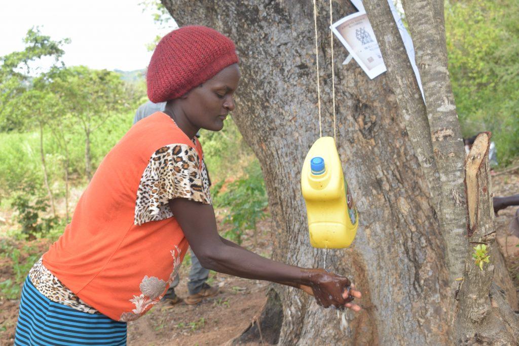 The Water Project : kenya19205-covid19-handwashing-1