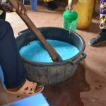 The Water Project: Kasioni Community C -  Mixing Soap