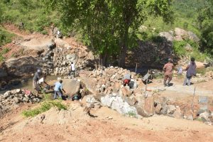 The Water Project:  Digging At The Dam Site