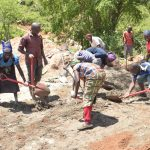 The Water Project: Kasioni Community B -  Mixing Cement