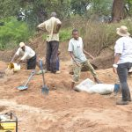 The Water Project: Mbitini Community A -  Working On The Construction Site