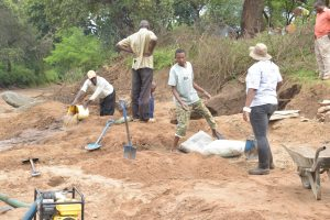 The Water Project:  Working On The Construction Site