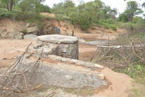 The Water Project:  Well Foundation Nears Completion