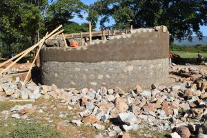 The Water Project:  Working On The Tank Walls