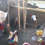 The Water Project: Kavyuni Salvation Army Primary School -  Working On The Tank Walls