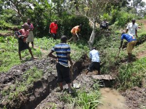 The Water Project:  Community Members Help Excavate The Spring
