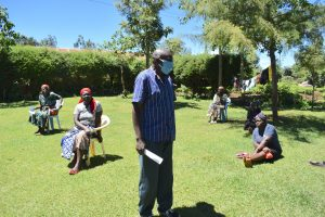 The Water Project:  A Community Leader Addressing The Group
