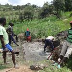 The Water Project: Mahira Community, Kusimba Spring -  Spring Excavation