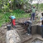 The Water Project: Mahira Community, Kusimba Spring -  Stairs Plaster Works