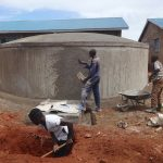The Water Project: St. Teresa's Isanjiro Girls Secondary School -  Tank Finishing Works