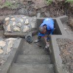 The Water Project: Mahira Community, Jairus Mwera Spring -  Plasterwork