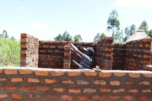 The Water Project:  Latrine Walls Construction