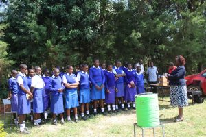 The Water Project:  School Principal Adresses Students At Training