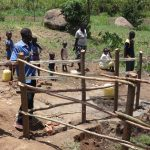The Water Project: Mahira Community, Jairus Mwera Spring -  Fencing