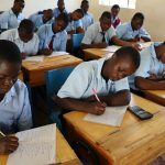 The Water Project: Friends School Vashele Secondary -  Students Taking Down Notes At The Training