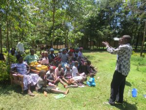 The Water Project:  Community Leader Thanks Participants For Attending