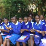 The Water Project: St. Teresa's Isanjiro Girls Secondary School -  Handwashing Demonstration