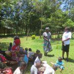 The Water Project: Mahira Community, Jairus Mwera Spring -  A Community Member Adresses Needs Of Cleaniness