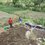 The Water Project: Mahira Community, Kusimba Spring -  Backfilling With Soil