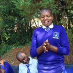 The Water Project: St. Teresa's Isanjiro Girls Secondary School -  Grace Demonstrating Handwashing