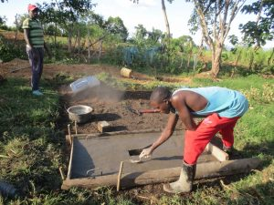 The Water Project:  Latrine Slab Construction