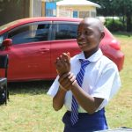 The Water Project: St. Teresa's Isanjiro Girls Secondary School -  Gladys Enjoys Handwashing