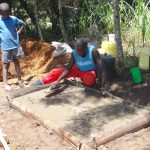 The Water Project: Mahira Community, Kusimba Spring -  Latrine Slab Construction