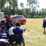 The Water Project: St. Teresa's Isanjiro Girls Secondary School -  Gladys Leads Handwashing Demonstration