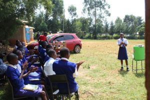 The Water Project:  Gladys Leads Handwashing Demonstration