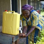 The Water Project: Lwenya Community, Warosi Spring -  A Handwashing Station At One Of The Homes Next To Warosi Spring