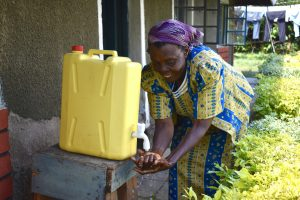 The Water Project:  A Handwashing Station At One Of The Homes Next To Warosi Spring