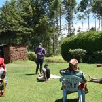 The Water Project: Musutsu Community, Mwashi Spring -  Community Members Braving The Sun To Attend Meetings