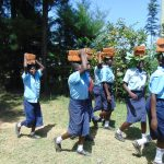 The Water Project: Friends School Vashele Secondary -  Students Carrying Bricks
