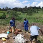 The Water Project: Mahira Community, Jairus Mwera Spring -  Mixing Cement