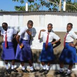 The Water Project: St. Teresa's Isanjiro Girls Secondary School -  Posing With Completed Latrines