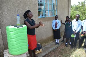The Water Project:  Handwashing Demonstration With Trainer Lynnah
