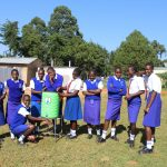 The Water Project: St. Teresa's Isanjiro Girls Secondary School -  Using A New Handwashing Station