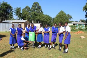 The Water Project:  Using A New Handwashing Station